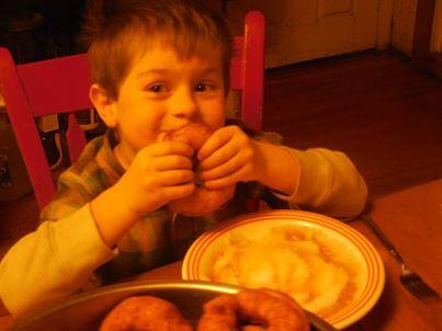 Eating Raised Donuts