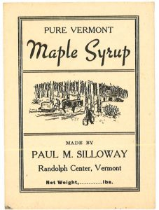 Pure Vermont Maple Syrup Label
