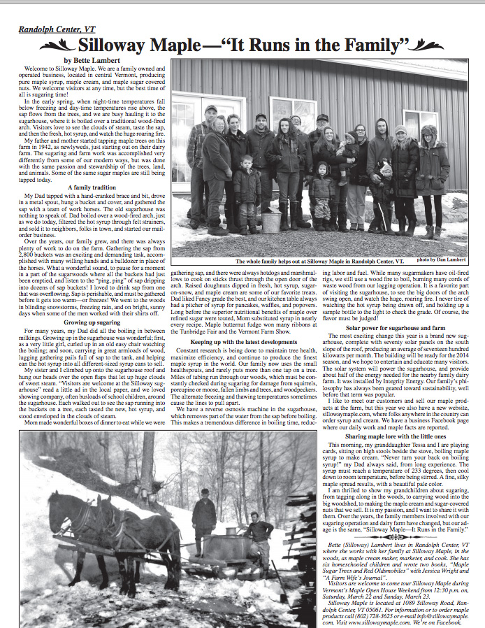 Vt Country Sampler Article