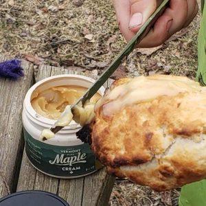 doughboy with maple cream