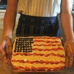 US Flag Cake decorated with Maple Frosting